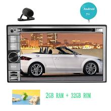 Rear Camera+Android 7.1 GPS Navigator CD/DVD Player Double Din car Stereo FM/AM Radio Video Player Wifi Web Surfing Mirrorlink(China)