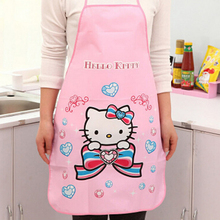 Fashion Waterproof PE Women apron Animation Adult Women Lady's Kitchen Cooking Pinafores Aprons Cartoon Apron High Quality