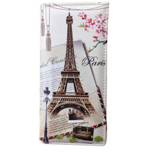 Xiniu wallet women leather Paris Flags Eiffel Tower Lady Long Wallet  Coin Purses Women Wallets carteras mujer #0511WL