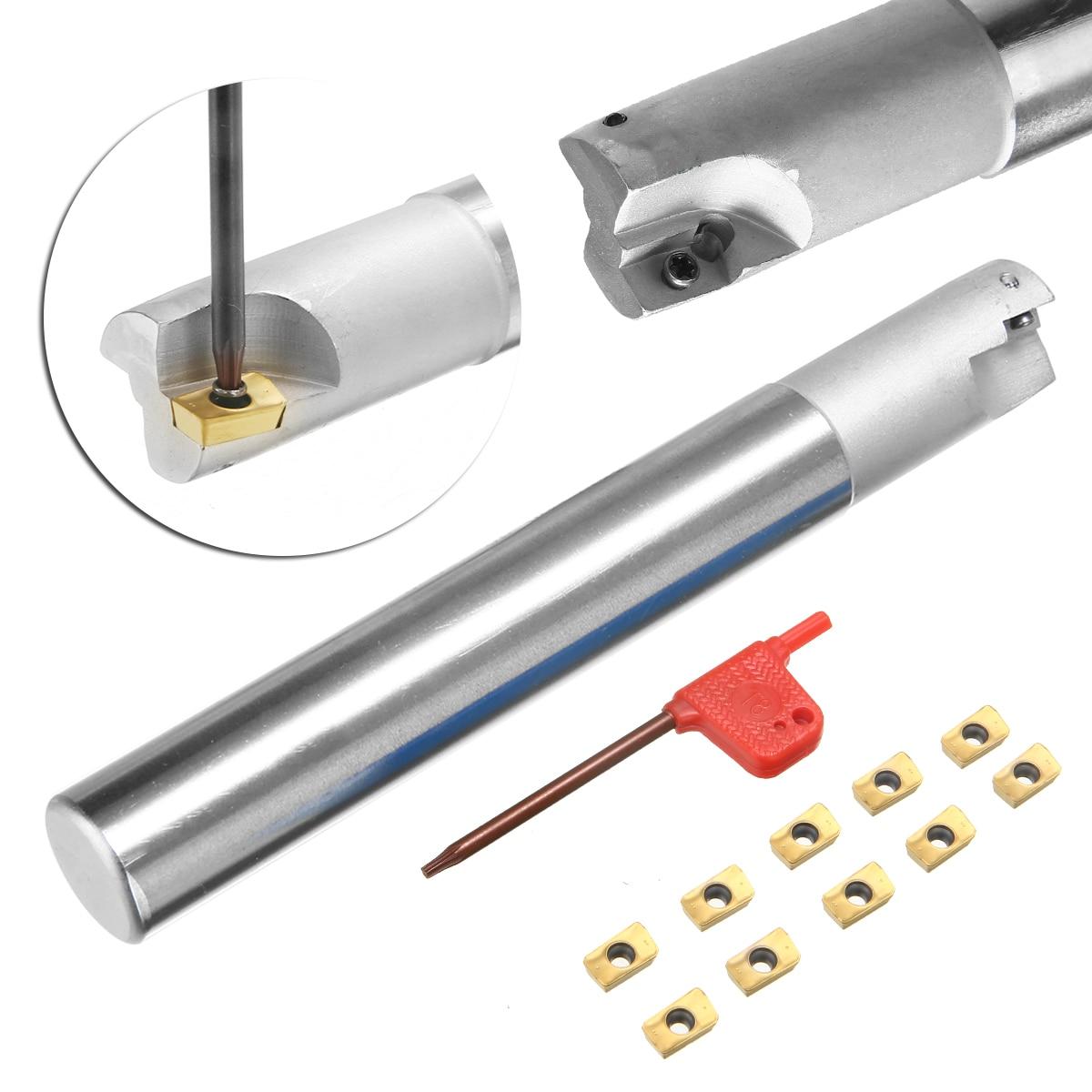 1P 300R-20-150L-C20-2T Indexable End milling Holder+10PCS APMT1135PDER-FM insert