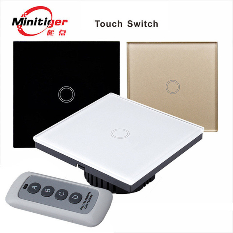 MiniTiger EU/UK Standard 1 Gang 1 Way Remote Control Switch,Wireless Remote Control Light Switch,Light Touch Switch<br><br>Aliexpress