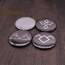New TV Show Series Twin Peaks Pin Brooches Pinback Buttons Black Lodge Symbol Fashion Jewelry for Students Women and Men fans(China)