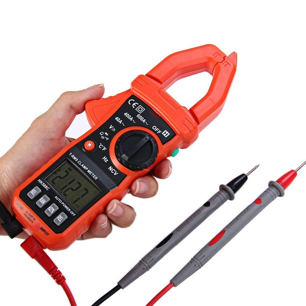 HONEYTEK HK588C Digital Clamp Meter Voltage Resistance Capacitance Frequency Temperature Tester<br><br>Aliexpress