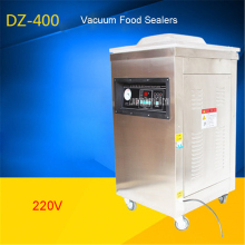 DZ400-2D 220V/50hz food rice tea vacuum sealer, vacuum packing machine vacuum chamber, aluminum bags vacuum sealing machine(China)