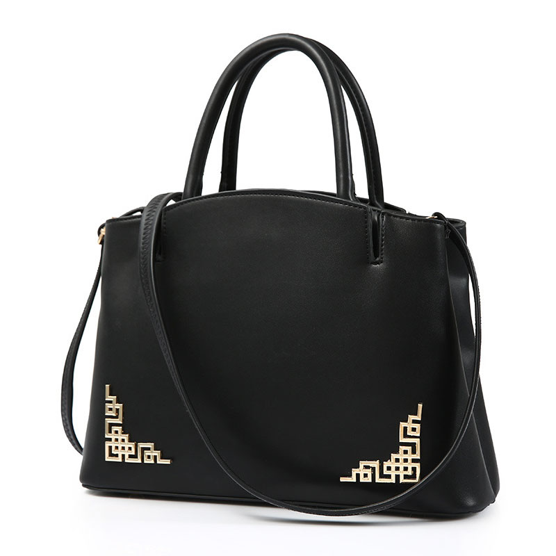 Women Handbags Tote Messenger Bags Elegant Decorated Crossbody Bag For Women High Quality PU Leather Black Bags<br><br>Aliexpress