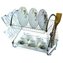 Stainless steel S type multifunctional rack 9 word draining racks kitchen storage double shelf