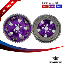 PQY RACING Free shipping- (One Pair)CAM GEARS KIT FOR NISSAN SKYLINE RB20 RB25 RB26 R32 R33 R34(Blue,Red,Purple) PQY6536(China)