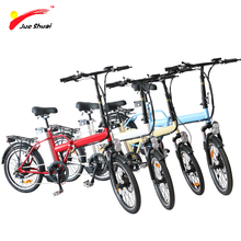 "20"" Folding Electric Bike Ebike 36V 250W Rear Hub Motor 36V 10ah Lithium Baattery 6 Speed velo electrique bicicleta electrica(China)"
