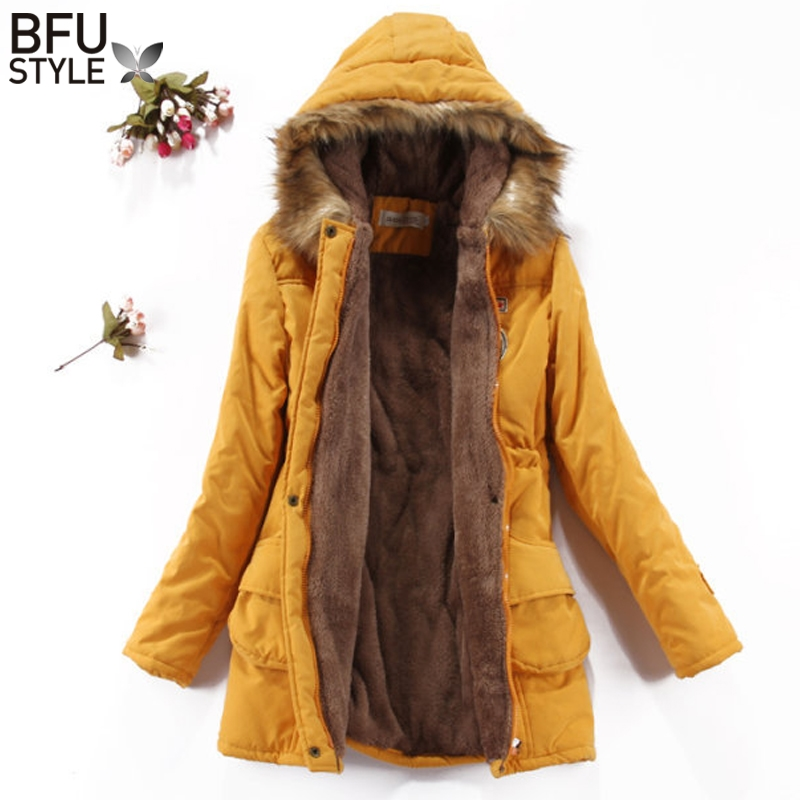 Women Winter Jacket Cotton Padded Jacket Ukraine Thick Black Female Velvet Basic Coat Parka Warm Long Jackets Overcoat XXXLÎäåæäà è àêñåññóàðû<br><br>