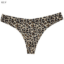 Buy Womens Plus Size Summer Sexy T-Back G-String Low Waist Leopard Printed Lingerie Briefs Underwear Seamless Thongs Panties XXL