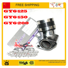 free shipping OKO KOSO carburetor air intake pipe inlet manifold connecting GY6 scooter 125cc 150cc 200cc performance parts