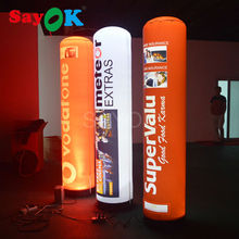 inflatable advertising tube/inflatable pillar with 16 changing color and logo printing for wholesale