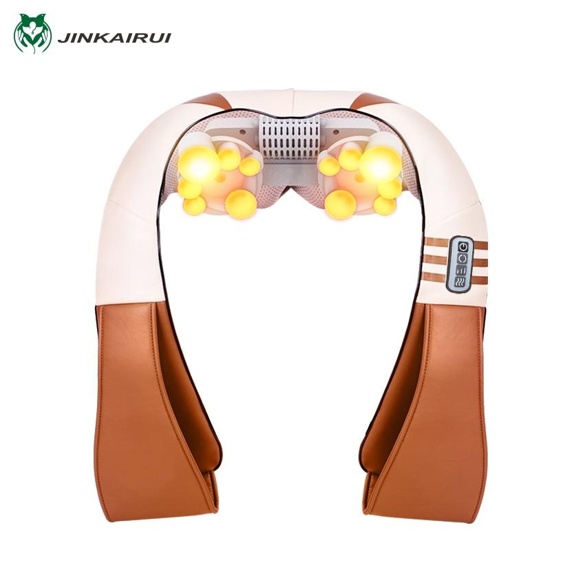 JinKaiRui U Shape Electrical Shiatsu Kneading Back Neck Shoulder Foot Body Massager Infrared Heated Car/Home Massagem Better Sle<br>