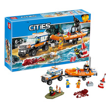 City Series Jeep Rescue Team City 4X4 Response Unit 02067 DIY Brick Kids Best Gift Model 60165