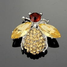 danbihuabi New Cheap golden fly fashion jewelry for women's wedding party animal brooches(China)