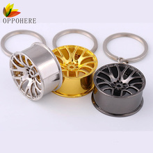 OPPOHERE Cool Car Key Chain Auto Wheel Styling Keychain Keyring for Hanging Decoration Alloy Material Key Ring Car Accessories