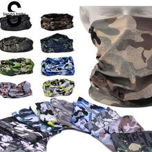 Senza Fretta Printed Men Face Mask Warmer Bandana Head Wear Snood Handkerchief Multi-Function Camo Tube Scarf Headband D01843(China)