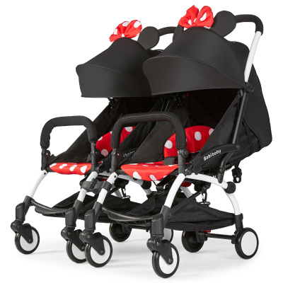 For Twins Baby Double strolleTwin baby stroller 2-in-1 detachable can sit light folding baby car safety Seat
