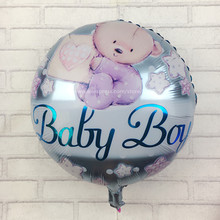 XXPWJ The new party furnishing children's toys round lovely 18-inch aluminum balloons balloons wholesale baby boy L-001