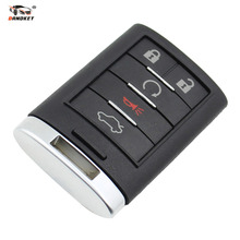 DANDKEY Replacement Key Shell fit for CADILLAC CTS XTS DTS Smart Remote Key Case Entry Fob 5 Buttons
