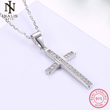 INALIS 925 Sterling Silver Europe and America Popular Cross necklace For Women Girl Female Jewelry Wedding Gift(China)