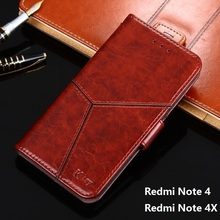 Buy Leather Case Xiaomi Redmi Note 4X Shell Phone Bag Protective Card Slot Stand Wallet Flip Cover Redmi Note 4 4X 5.5'' for $4.99 in AliExpress store