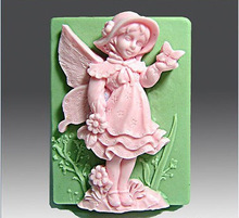 DIY New Cute Angel Silicone Handmade Soap Mold Crafts Mold Sugar Craft Christmas Silicone Mold Kitchen Accessories SM052