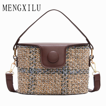 Buy MENGXILU Brand Bucket Crossbody Bags Women Knitting Women Messenger Bag Casual Tote Designer Handbags High Sac 2018 for $17.95 in AliExpress store