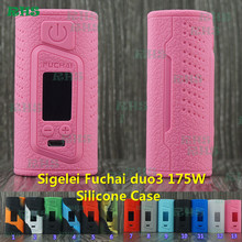 2017 New Popular Silicone Case of Sigelei Fuchai Duo 3 175W 175 Watts USB TC Mod China wholesale Silicone Cover tactile tough(China)