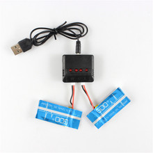 Best Deal Rechargeable Lipo Battery 4 In 1 Charger 3.7V 720mAh Lipo Battery RC Battery For WLtoys V931 XK K123 K124