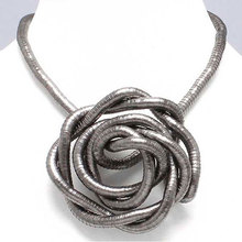 manufacture high quality 5mm 90cm iron bendable flexible snake necklace 10pcs/pack(China)