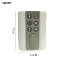 DC12V 315MHz 433MHz 4CH 6CH RF remote control learning code EV1527 remote controller rf transmitter for home device switch