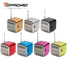 TOPROAD Mini Portable Music Speaker TD-V26 Micro SD TF MP3 Player Support FM Radio USB Stereo Altavoz Speakers for Computer PC(China)