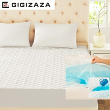 GIGIZAZA Waterproof Mattress Pad 150 x 200 cm White TPU Foam Back Quilt Mattress Protect Cover for Bed Full Queen Size(China)
