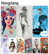 HongJiang The Girl With Wine Glass Design Cover phone Case for Xiaomi redmi 4 1 1s 2 3 3s pro redmi note 4 4X(China)