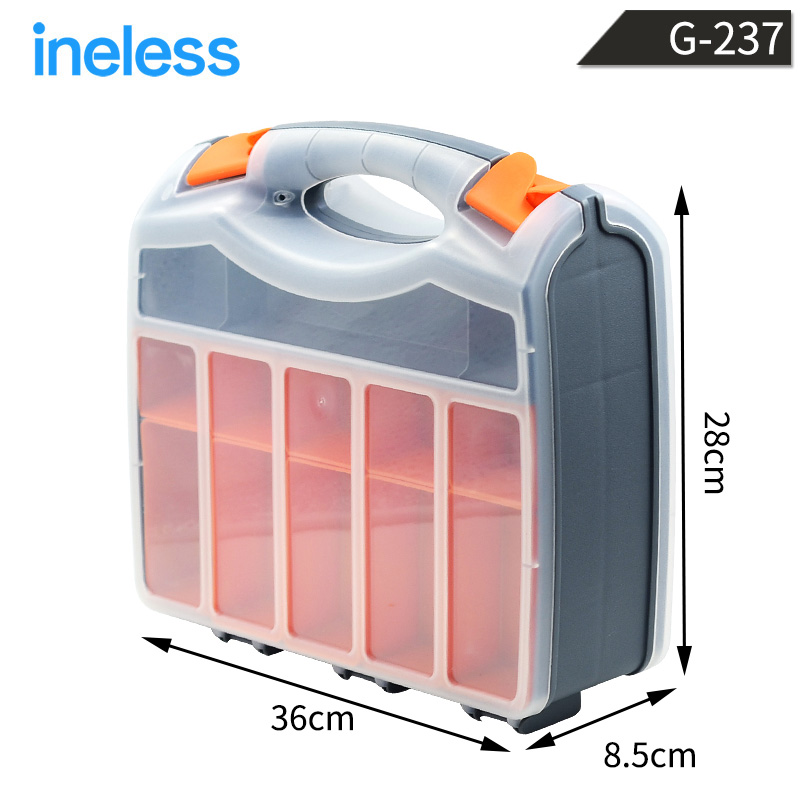 G-237 Double Sided Tools Box Collection Container Flexible Strong Packaging Case Internal Detachable Baffle<br>