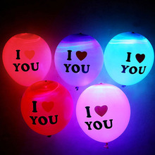 Romantic 15pcs LED Light Heart Latex Helium Balloon Air Balls Christmas Halloween diy Decoration Wedding Birthday Party Supplies