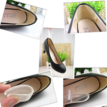 1Pairs Silicone Back Heel Liner Gel Cushion Pads Insole High Dance Shoes Grip New Foot Care Feet Insoles Invisible Cushion