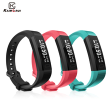 Kaimorui Smart Wristband USB Charge Bluetooth Smart Bracelet Heart Rate Monitor Pedometer Waterproof Fitness Tracker Smart Band(China)