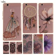 Mobile Phone Case For Huawei Y3 ii Y5 ii Y6 ii Honor 8/5A P8/P9 Lite Retrol Flower Model Girl Soft TPU Silicon Back Skin Fundas