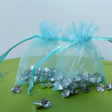 100pcs/lot turquoise Organza Jewelry Wedding Gift Bags 7x9cm /3X4 Inch Christmas Wedding 9x7cm Candy Bag