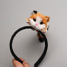 High Quality Japanese Style Mori Girl Lolita Kawaii Cat Head Hairbands Party Headdress Headwear Ornament Hair Hoop Accessories(China)