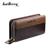 Baellerry Men's Wallet Purse Men Wallets Male Bags Pu Leather Men Clutch Bag Card Holder Zippers Coin Purse Wristlet Clutch Male