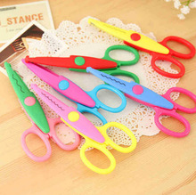 1pc DIY Paper Lace Scissors Pattern Laciness Scissors Scrapbook Paper Diary Album Handmade Art Card Decor Kid Safety Shears