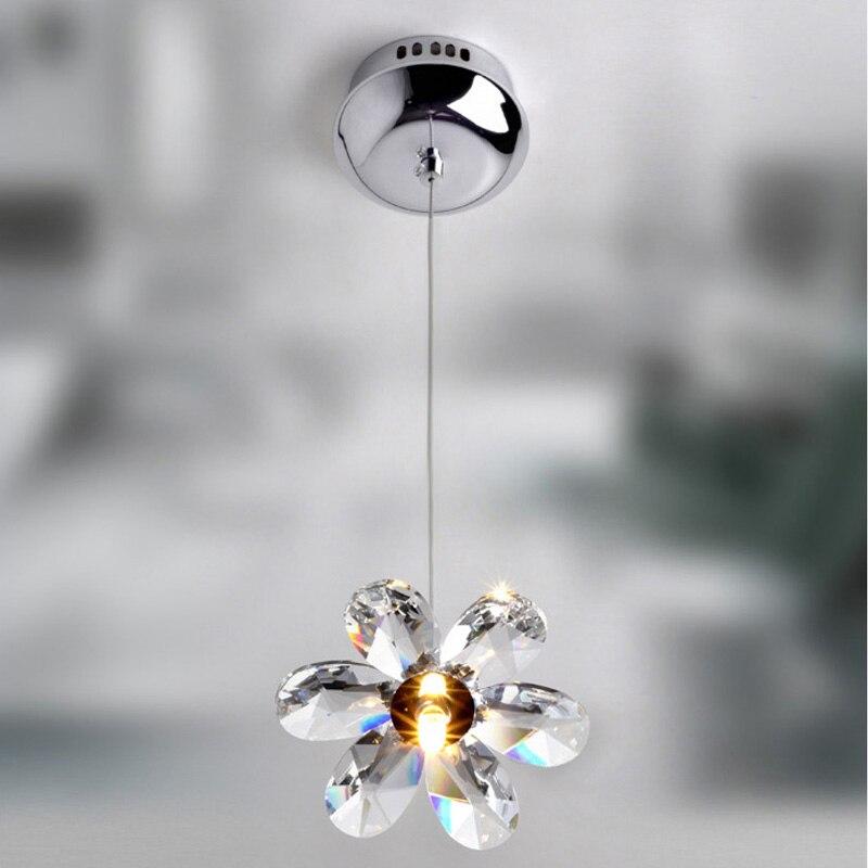 1 Head Modern Minimalist Crystal Pendant Light Kitchen Dining Room Bars Light Fixture Creditve Hanging Lamp G4 Bulb PL436<br>