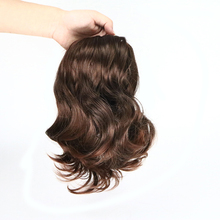 Suri Hair Short Wavy 2 Clip In Hair Extensions Heat Resistant Synthetic Fake Hairpieces Natural False Ponytail Fake Women Hair