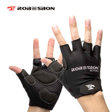 Buy ROBESBON Cycling Gloves MTB Bicycle Gloves Half Finger Cycle Gloves Road Gel Pad Racing Biking Gloves guanti moto for $5.62 in AliExpress store