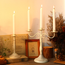Wedding Decoration  Wrought Iron Candle Holders Decorative Candle Holders Wedding Candelabra Wedding Table Candle Holder Retro