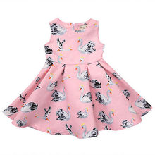 Princess Swan Girl Dress Summer 2017 Tutu Wedding Birthday Party Dresses For Girls Children's Costume Teenager Dresses