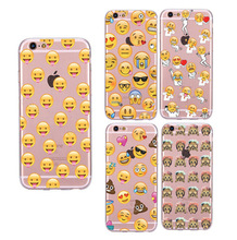 Back Cover For Apple iphone 7 plus 5 5s SE 6 6s 6 plus Fundas Funny Cute Monkey Emoji Soft Sillicon Transparent TPU Phone Cases